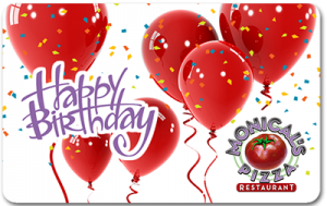Monical's electronic gift card - birthday